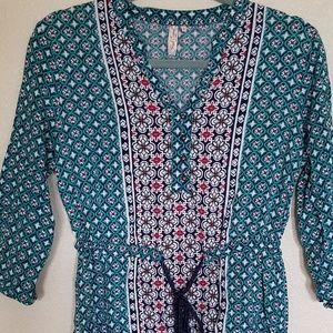 Red Camel Boho tunic dress